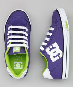 Purple & Green Chelsea Canvas Sneaker by DC Shoes