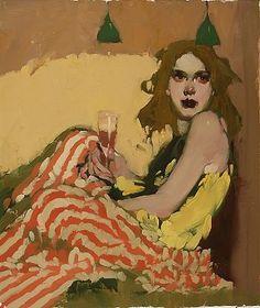 "Milt Kobayashi -""Her Corner""- Contemporary Artist - Figurative Painting"