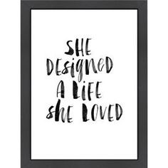 She Designed a Life Art Print
