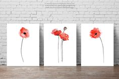 Red Poppies Set of 3 Abstract Flower Painting Watercolor Floral Idea Poppy Home Decor Flowers Art Print Set of 3 Abstract flowers Poppy Watercolor Women gift idea Poppies Poppy abstract flower Red Poppies Poppy Home Decor Flowers Art Print Poppy painting Red wall decor red painting 40.00 USD #goriani