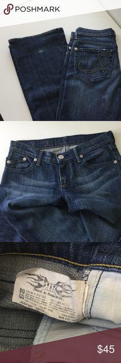 "Rock & Republic Jeans PRICE FIRM UNLESS BUNDLED. 10% off bundles. Normal wear and tear. Size 25. Approx 33"" inseam. 1015 Rock & Republic Jeans"