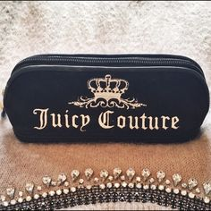 Juicy Couture Cosmetic Case This Authentic Juicy Couture Pencil case shaped COSMETIC BAG is unique and useful for travel and organizing your makeup! It comes with two zippered compartment. One opens up to a full space while the second opens up to a place with slots for eyeliners or lip pencils along with a heart shaped mirror! Very useful and adorable! *Slightly Used but no permanent stains* Juicy Couture Bags Cosmetic Bags & Cases