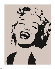 MARILYN MONROE - stencil Poster