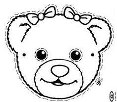 Resultado de imagem para moldes e riscos ursa rosa para patch aplique