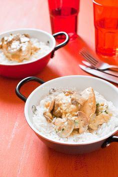 recette façon poulet au curry léger