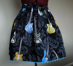 Electric Guitar Mini Skirt by tintiara on Etsy, $44.00