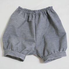 80-90cm baby pants tutorial - free pattern  型紙無料ダウンロード(ベビー服かぼちゃパンツ)~ハンドメイドのココロ(新米ママの手芸&グルメ)