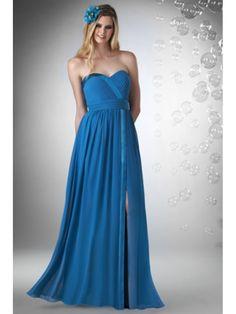 Sheath / Column Sweetheart Floor Length / Long Chiffon Bridesmaid / Wedding Guest Dresses 501173