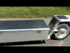 Packrat Trailer - Aluminum box single wheel trailer - YouTube