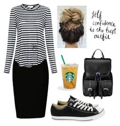 """""""Self Confidence Is The Best Outfit"""" by kaitydidwhat ❤ liked on Polyvore featuring A.L.C., Converse and Aspinal of London"""