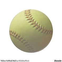 Yellow Softball Ball Coaster - $12.95 - Yellow Softball Ball Coaster - by #RGebbiePhoto @ #zazzle - #Softball #Sports #Game - A yellow softball background. Natural shadows from outdoors on the ball. Fastpitch softball, ASA Softball League and backyard players love our softball line!
