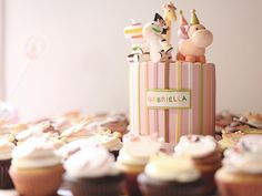 girly jungle themed 1st birthday party, la cupella