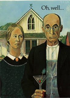 American Gothic Parodies   --   American Gothic Anniversary Card...