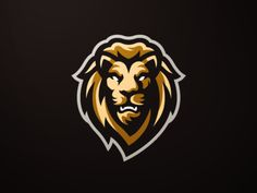 Lion Mascot Logo designed by Koen. Connect with them on Dribbble; the global community for designers and creative professionals. Leon Logo, Logo Esport, Lion Head Logo, Lion Illustration, Team Logo Design, Lion Design, Esports Logo, Wolf, Game Logo