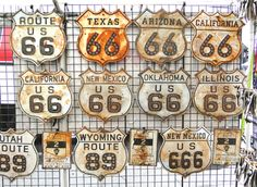 rusted route 66. oh! rust. that is a nice color.