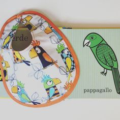 Baby cotton bib -baby shower gift - baby clothes for boys or girls - bib parrot - baby fashion - baby accessories - handmade