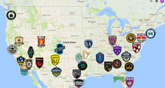 2021 USL Championship Map Soccer League, Sports Logo, Team Logo, North America, Maps, Club, Logos, Blue Prints, Logo