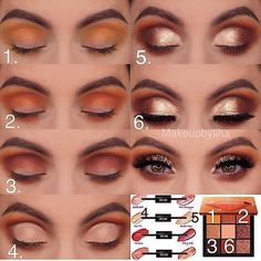 R O S E ( step by step ) B - Eye makeup steps - Eye Makeup Steps, Makeup Eye Looks, Skin Makeup, Eyeshadow Makeup, Fall Eyeshadow Looks, Eyeshadows, Makeup Inspo, Makeup Tips, Makeup Ideas