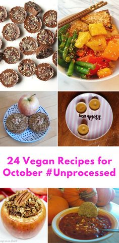 24 Vegan Recipes for October #Unprocessed | xtinaluvspink.wordpress.com