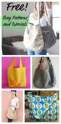 Free Patterns and Tutorials for Sewing Bags                                                                                                                                                                                 More