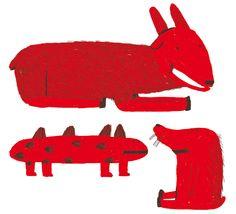 Red Animals by Antonio Ladrillo