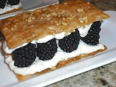 Culinary Alchemy: Back in Black - Blackberry Millefeuille with Maple Crème Fraîche