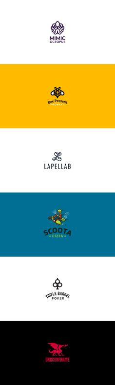 2016 logo collection #logo #2016 #design #brand #identity #vector #mark #creative #kreatank #emblem #cute #octopus #bee #gift #present #scooter #pizza #poker #dragon #fire