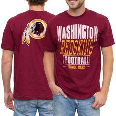 eb68652f5 NFL Washington Redskins Coin Toss 2-Hit T-Shirt - Burgundy Coin Toss