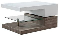Christopher Knight Home Bridgetown Rectangular Rotatable Coffee Table w/ Glass Glossy White/Oak Pedestal Coffee Table, Buy Coffee Table, Coffee Table Furniture, Walnut Coffee Table, Contemporary Coffee Table, Modern Coffee Tables, Black Square Coffee Table, Coffee Table Pictures, Tempered Glass Shelves