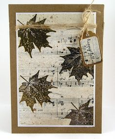 Saw Christmas music scrap paper at Pages In Time that, with a Snowflake stamp, would be a gorgeous holiday card.