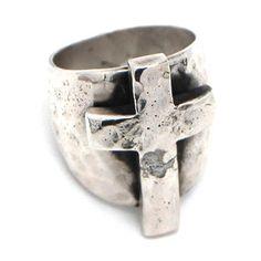 Richard Schmidt Sterling Silver Cross Ring at Maverick Western Wear