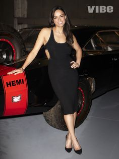 #Furious7's Michelle Rodriguez poses behind the scenes at VIBE's digital cover shoot - http://www.vibe.com/2015/03/michelle-rodriguez-talks-role-film-rihanna-fast-and-furious-cast/