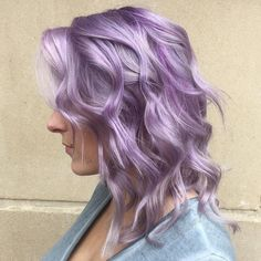 Medium Pastel Purple Hairstyle