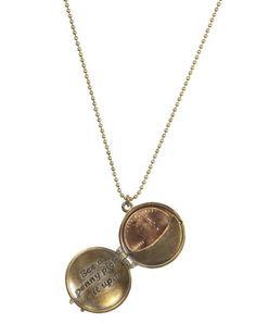 Lucky penny locket.