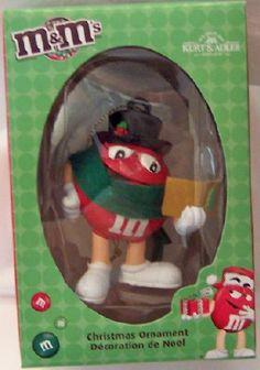 M'S Red Kurt S. Adler Christmas Ornament New In Box $14.99