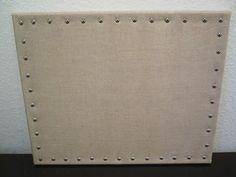 DIY Linen Cork Board