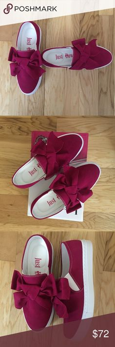 "Be charming sale ""We are all stars and we deserve to twinkle"" Marilyn Monroe.  She's right you are a star and these casual slip on fuchsia sneakers add twinkle.  Sassy and charming all in one pair of shoes.  Both give a gentle stretch for a comfy fit. Lightly cushioned footbed, a must. Man made upper and textile lining. New in the box! Shoes Sneakers"