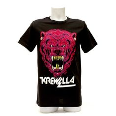 KREWELLA TEE // KILLIN' IT BEAR SUPER-SOFT BLACK AMERICAN APPAREL COTTON TEE WITH THE KILLIN' IT BEAR PRINTED ON THE FRONT AND CUSTOM LABEL ON THE INSIDE.