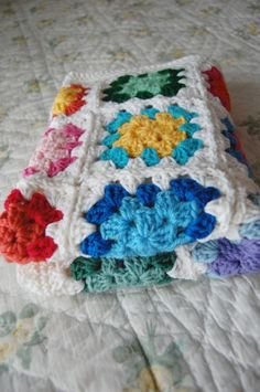 Custom Order  Colorful Granny Square Baby Afghan by tillietulip, $50.00