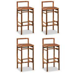 Holasovice Bar Stool Bay Isle Home Adjustable Bar Stools, Swivel Bar Stools, Bar Chairs, Table And Chairs, Rustic Charm, Rustic Style, Bamboo Stalks, Rustic Bar Stools, Dining Set