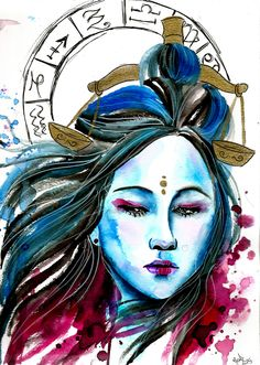 Zodiac Sign Libra- Art By Gabi Xavier                                                                                                                                                     More