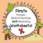 This unit includes activities and worksheets for patterns, ordinal numbers, and measurements and it's FREE! Please check out my blog at: theartofte...