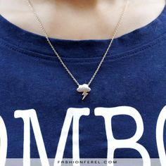 Angry little cloud necklace