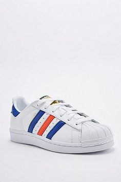 cheap for discount efd78 a75e7 Adidas - Baskets Superstar East River Rivalry blanc bleu marine rouge Bleu  Blanc Rouge