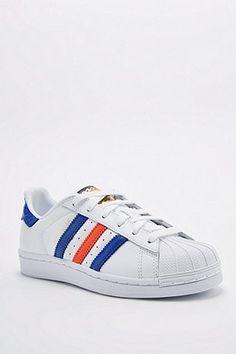 adidas - baskets superstar en daim bordeaux style 80s
