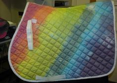 MUST HAVE!!! Tie-dye saddle pad!
