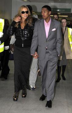 Mariah Carey Photos Photos - Mariah Carey and her husband Nick Cannon fly into Heathrow Airport from New York. - Mariah Carey And Nick Cannon Arriving At Heathrow Airport