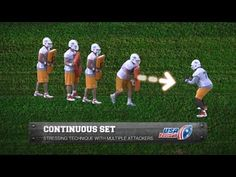 Offensive Line Drill Continuous Set - YouTube