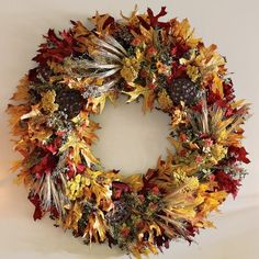 Fall Leaf Wreath - contemporary - holiday outdoor decorations - Williams-Sonoma