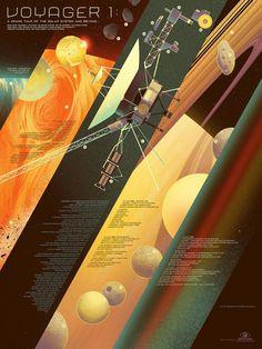 Kevin Tong Illustration of the NASA voyager probe.